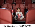 wide view of a little kid... | Shutterstock . vector #684794773