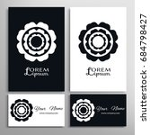 black and white mandala round...   Shutterstock .eps vector #684798427