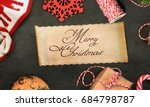 christmas and new year s... | Shutterstock . vector #684798787