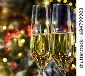 christmas rustic background... | Shutterstock . vector #684799903