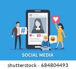social media concept banner.... | Shutterstock .eps vector #684804493