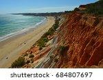 Small photo of Beautiful beach of Falésia in the Algarve