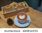 coffee beans placed on a white... | Shutterstock . vector #684816553