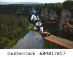 Woman Ropejumper  Jumps From A...