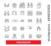 friendship  relationship ... | Shutterstock .eps vector #684820303