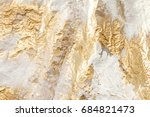 modern white and gold brush... | Shutterstock . vector #684821473