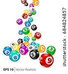 vector colorful bingo balls... | Shutterstock .eps vector #684824857
