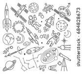 doodle different universe... | Shutterstock . vector #684828673