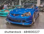 Small photo of Anaheim, USA - July 22, 2017: Acura RSX on display during Spocom Super Show.