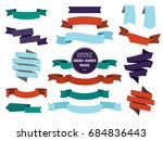 banners ribbons and badges set. ... | Shutterstock . vector #684836443