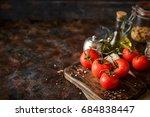 Branch Of Fresh Ripe Tomatoes...