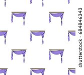 curtains with drapery on the...   Shutterstock .eps vector #684846343