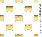 curtains with drapery on the...   Shutterstock .eps vector #684846367