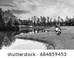 golf equipment and golf bag ...   Shutterstock . vector #684859453