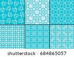 Set Of 6 Geometric Seamless...