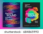 electronic music and electro... | Shutterstock .eps vector #684865993
