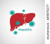 vector illustration of hepatitis   Shutterstock .eps vector #684870277