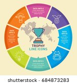 trophy infographic template... | Shutterstock .eps vector #684873283