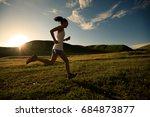 young fitness woman runner... | Shutterstock . vector #684873877