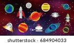 illustration of the universe.... | Shutterstock .eps vector #684904033