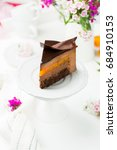 a piece of chocolate mousse... | Shutterstock . vector #684910153