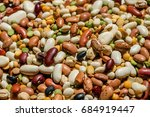 variety of soup beans to... | Shutterstock . vector #684919447
