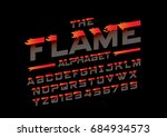vector of abstract flaming font ... | Shutterstock .eps vector #684934573
