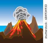 volcano eruptions | Shutterstock .eps vector #684934933