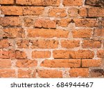 old clay brick wall background | Shutterstock . vector #684944467