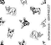 seamless vector pattern of hand ... | Shutterstock .eps vector #684948157