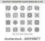 geometric mono line   ornament... | Shutterstock .eps vector #684948877