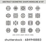geometric mono line   ornament... | Shutterstock .eps vector #684948883