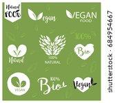 natural  fresh  bio  vegan food ... | Shutterstock .eps vector #684954667