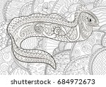 ugly and creepy fish with high... | Shutterstock .eps vector #684972673