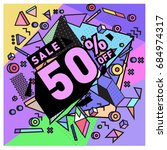summer sale memphis style web...   Shutterstock .eps vector #684974317