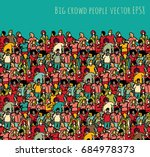 crowd big group people seamless ... | Shutterstock .eps vector #684978373
