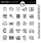 modern grey tone thin line... | Shutterstock .eps vector #684983917