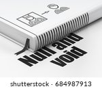 law concept  closed book with...   Shutterstock . vector #684987913