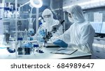 in a secure high level... | Shutterstock . vector #684989647