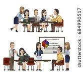 office working people   Shutterstock .eps vector #684990517