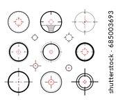 target icons set sniper scope... | Shutterstock .eps vector #685003693