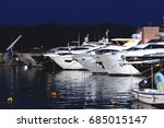 expensive boats and yachts on... | Shutterstock . vector #685015147
