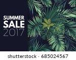 green summer tropical flyer or... | Shutterstock .eps vector #685024567