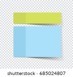 set of sticky stickers with... | Shutterstock .eps vector #685024807