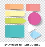 set of sticky stickers with... | Shutterstock .eps vector #685024867