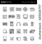 modern thin black line icons... | Shutterstock .eps vector #685028797