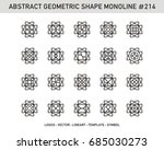 geometric set  | Shutterstock .eps vector #685030273