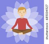energetic healing. man heal... | Shutterstock .eps vector #685034527