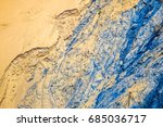 Blue Rivulets On Sand