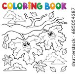 coloring book happy autumn... | Shutterstock .eps vector #685054387